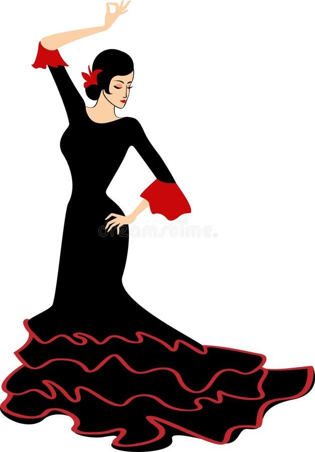Muchacha del flamenco del baile ilustración del vector