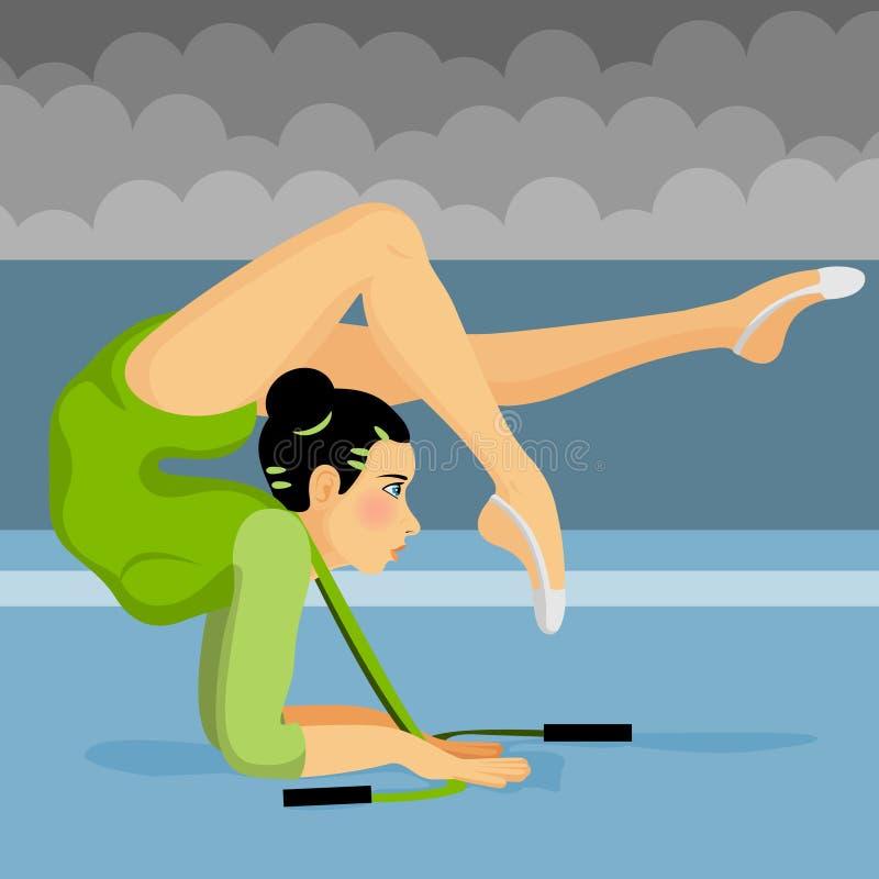 Muchacha del gimnasta ilustración del vector