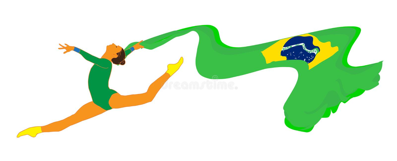 Muchacha del gimnasta libre illustration