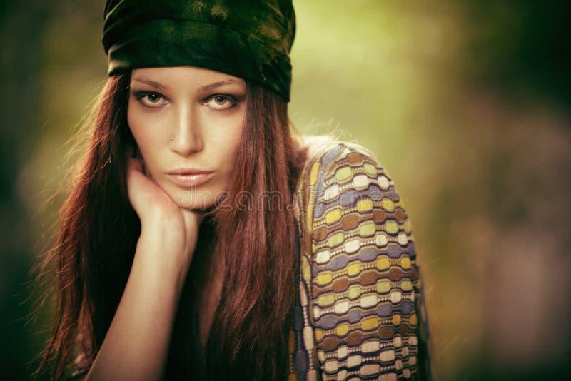 Muchacha del hippy foto de archivo