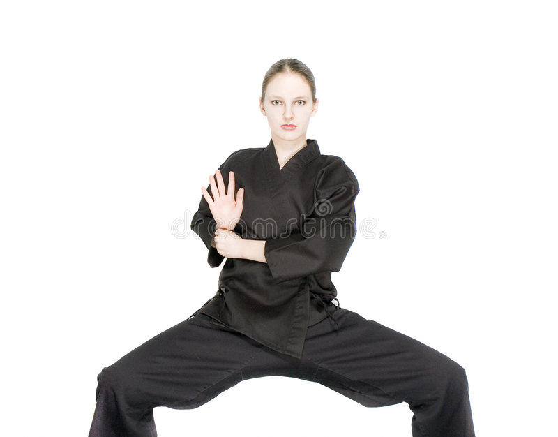 Muchacha del karate foto de archivo