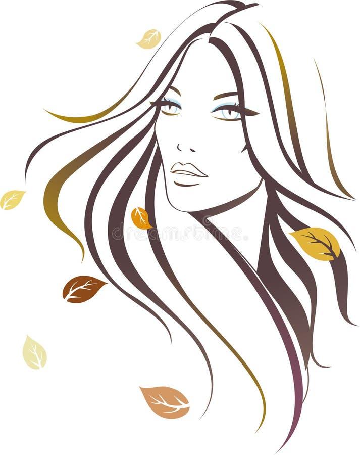 Muchacha del otoño ilustración del vector