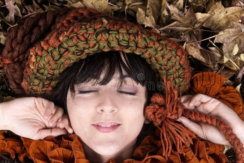 Muchacha del otoño fotos de archivo
