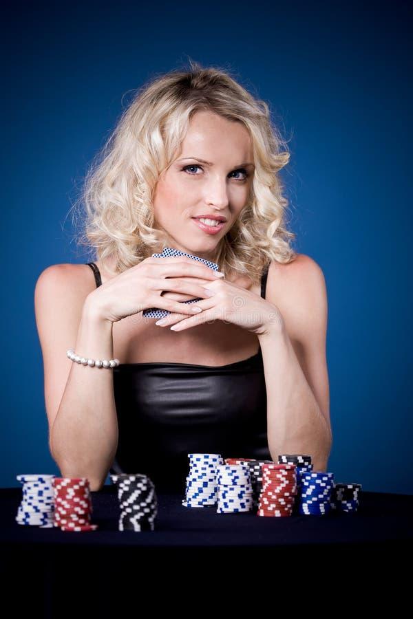 Muchacha del póker imágenes de archivo libres de regalías