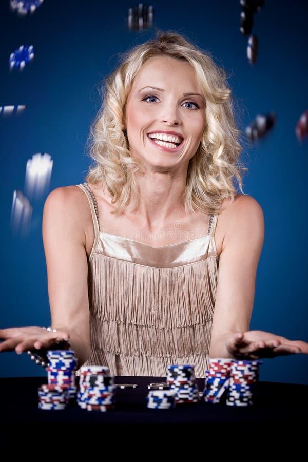 Muchacha del póker imagenes de archivo