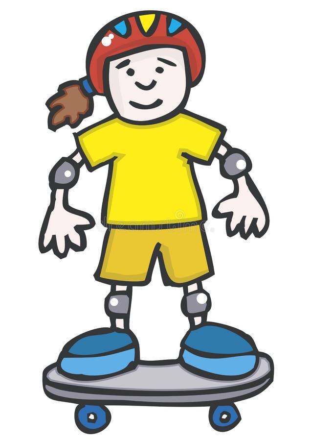 Muchacha del patín libre illustration