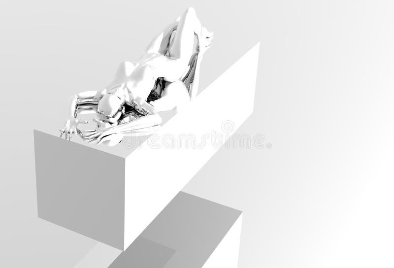 Muchacha del platino ilustración del vector