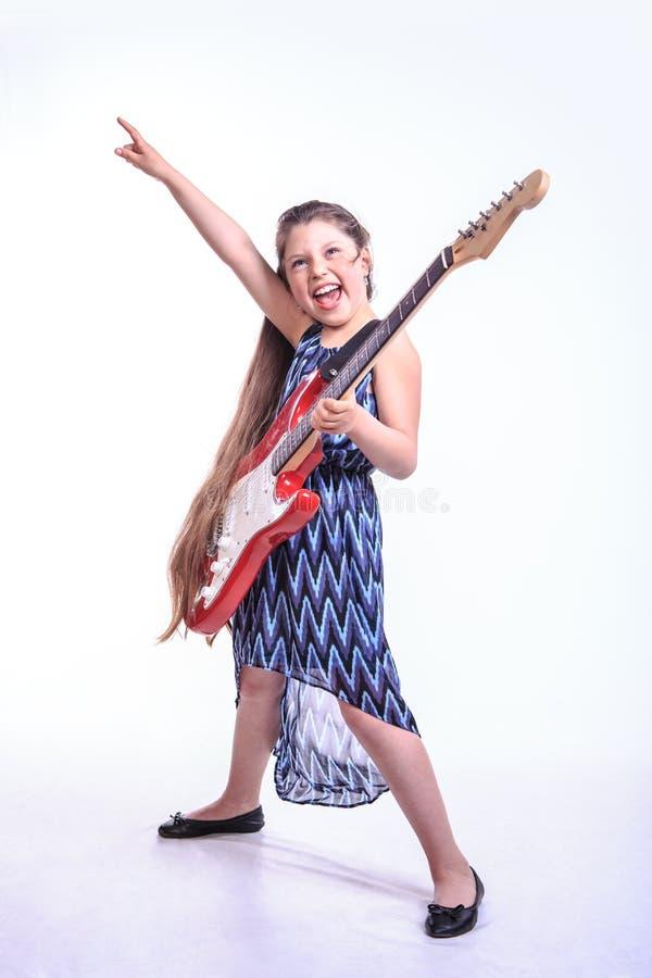 Muchacha del rock-and-roll fotografía de archivo
