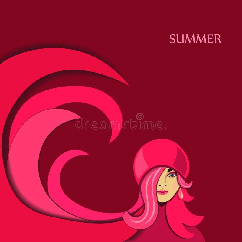 Muchacha del verano libre illustration