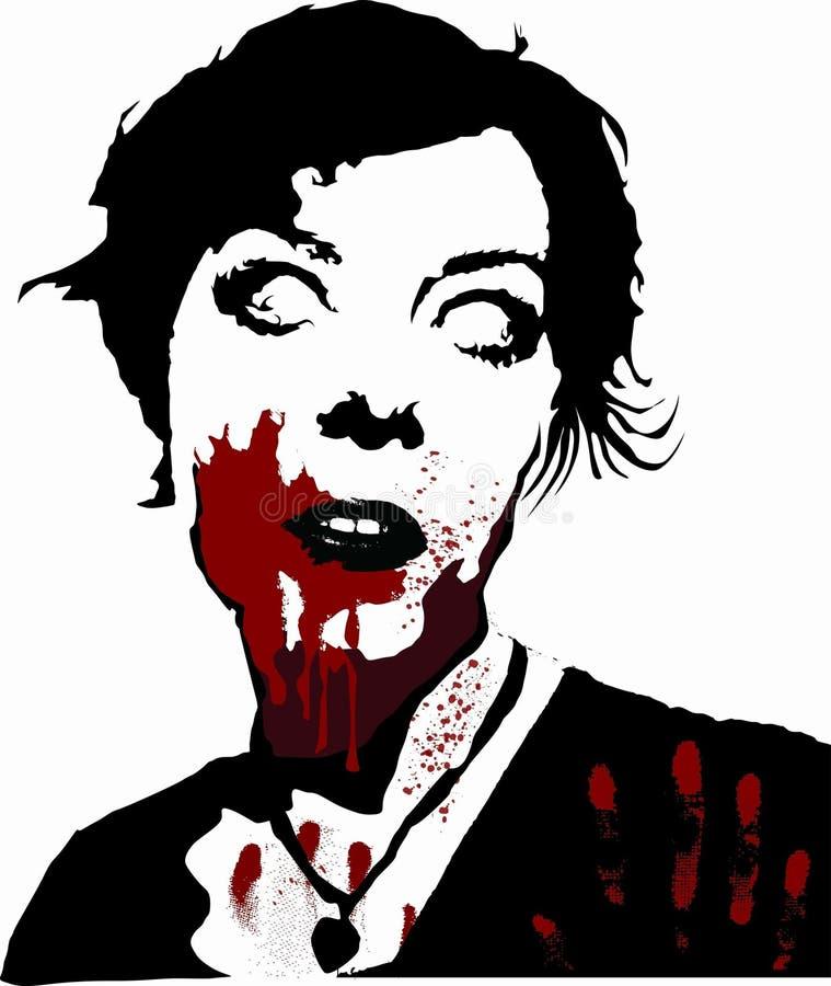 Muchacha del zombi stock de ilustración