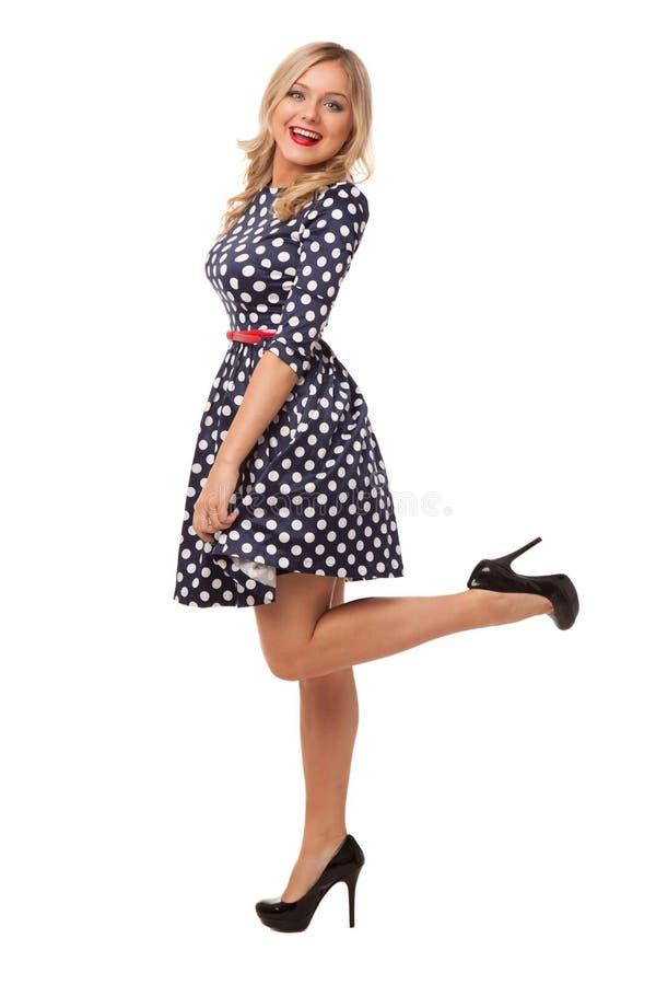 Download Muchacha Delgada Rubia En Vestido Y Zapatos Del Punto Foto de archivo - Imagen de amistad, muchacha: 41907172