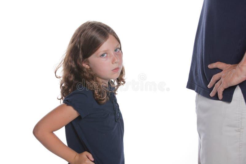 Muchacha descarada con el papá imagen de archivo libre de regalías