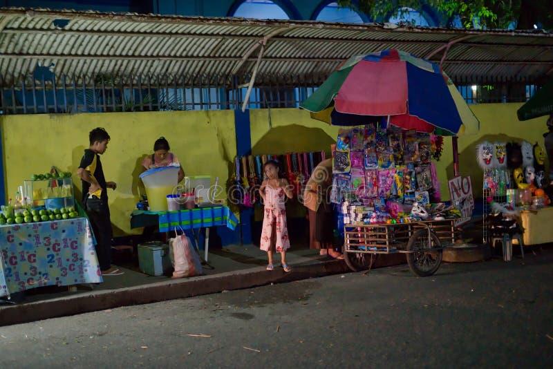 10/16/18 muchacha descarada de Dumaguete Filipinas del festival de Buglasan foto de archivo libre de regalías