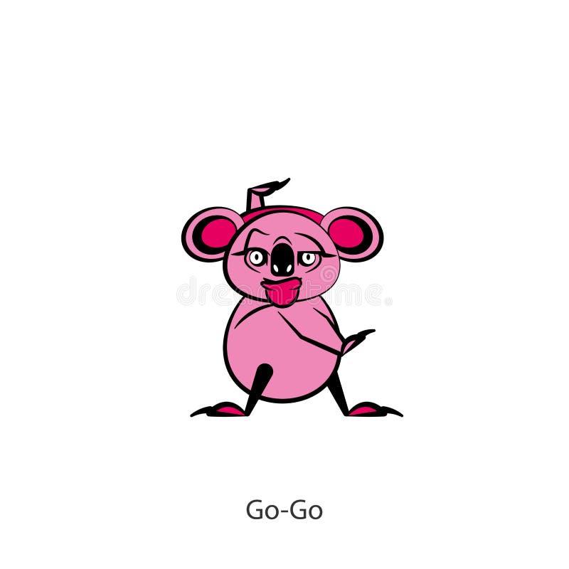 Muchacha divertida del color de la koala libre illustration