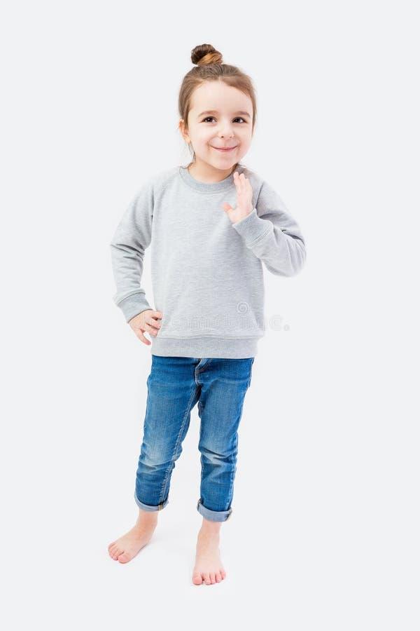 Muchacha divertida feliz del niño foto de archivo libre de regalías