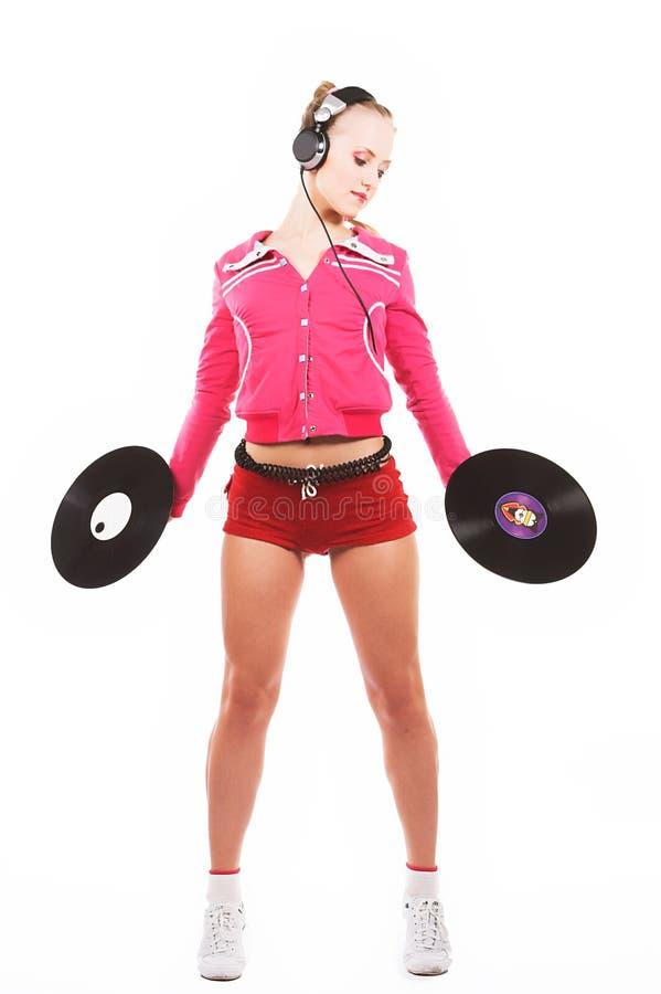 Muchacha DJ fotos de archivo