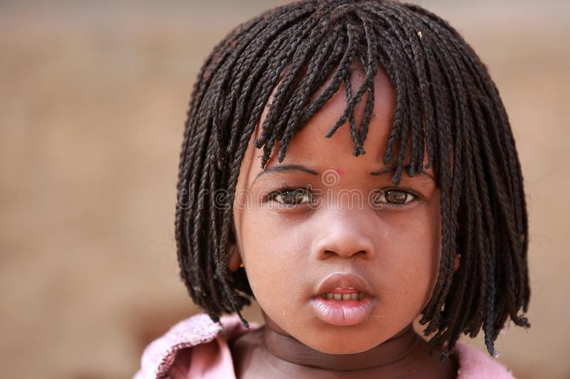 Muchacha en África fotografía de archivo