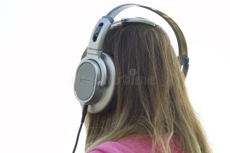 Download Muchacha en auriculares foto de archivo. Imagen de estéreo - 1277246
