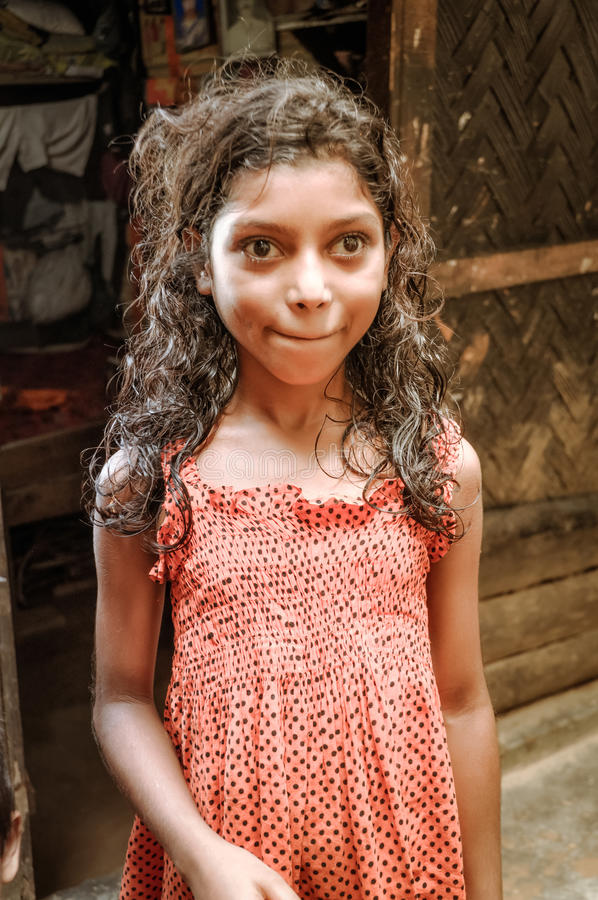 Muchacha en Bangladesh imagen de archivo