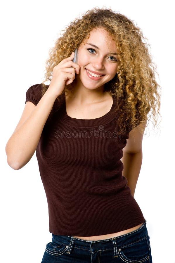 Muchacha en el teléfono fotografía de archivo