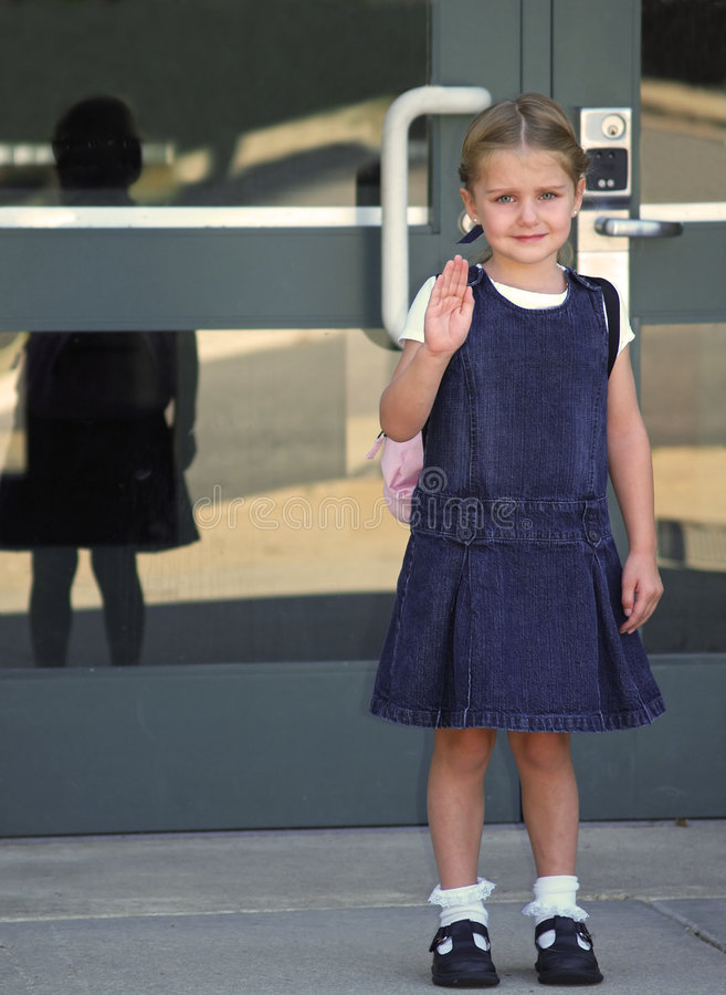 muchacha en la escuela fotografía de archivo