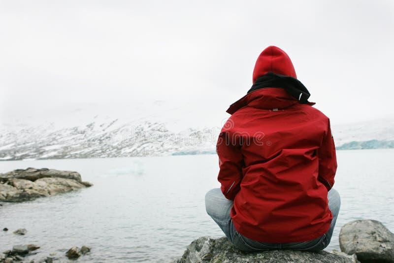 Muchacha en la meditación foto de archivo libre de regalías