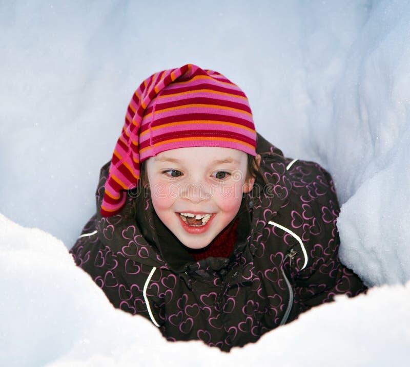 Muchacha en la nieve fotografía de archivo libre de regalías