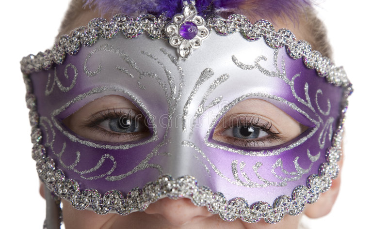 Muchacha en máscara foto de archivo libre de regalías