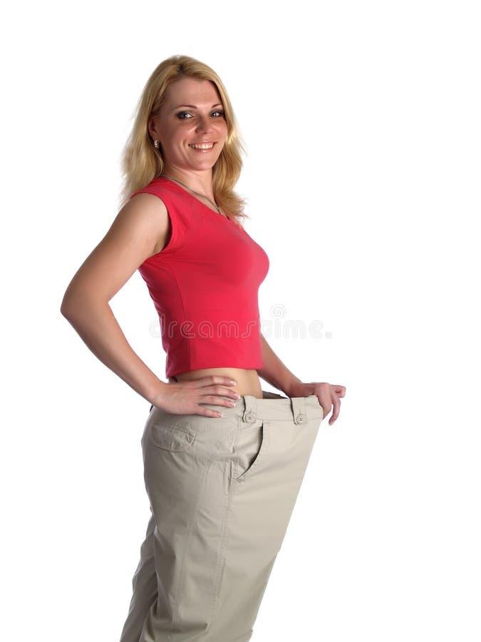 Muchacha en pantalones grandes imágenes de archivo libres de regalías