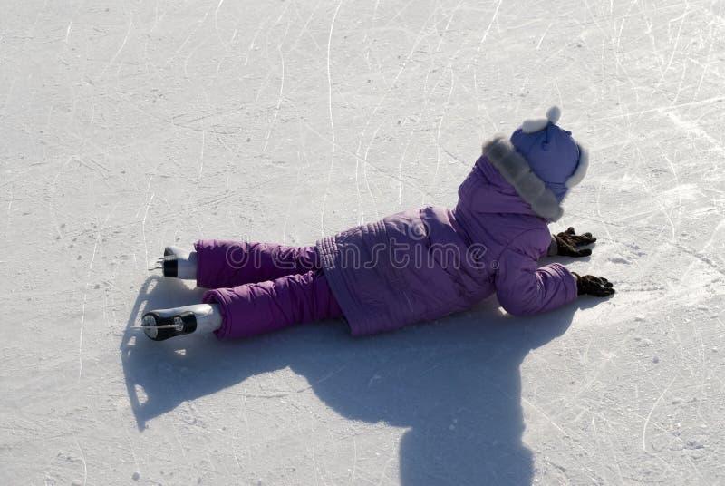 Muchacha en patines. foto de archivo