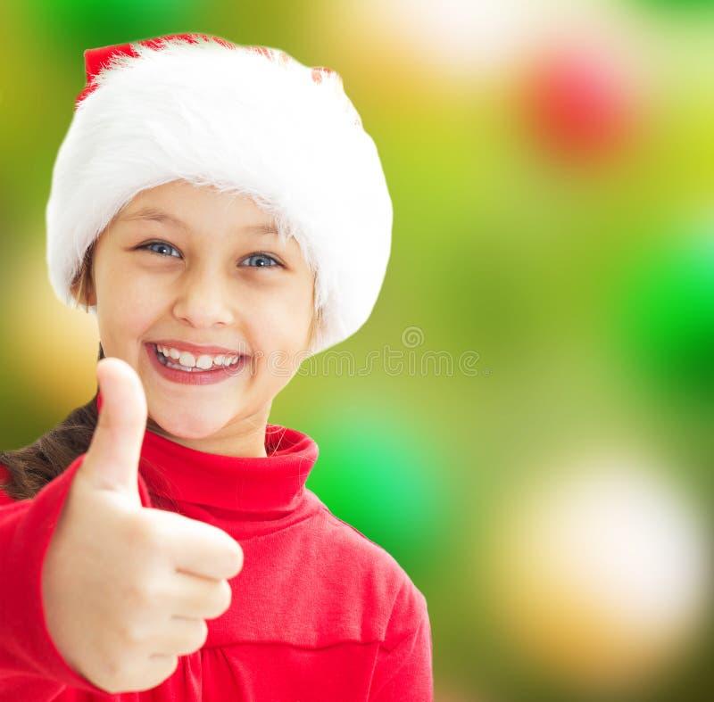 Muchacha en ropa de la Navidad imágenes de archivo libres de regalías