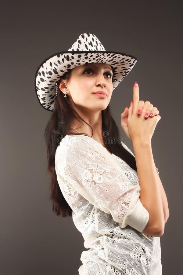 Muchacha en sombrero imagen de archivo