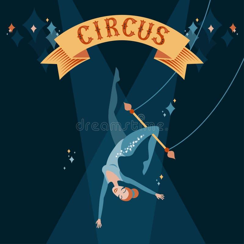 Muchacha en trapecio libre illustration