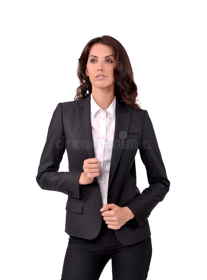 Muchacha en un traje de negocios foto de archivo