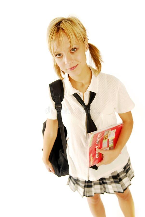 Muchacha en un uniforme escolar fotos de archivo libres de regalías