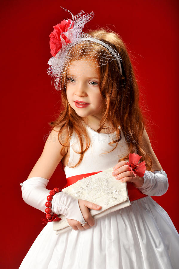 Muchacha en un vestido fotografía de archivo libre de regalías
