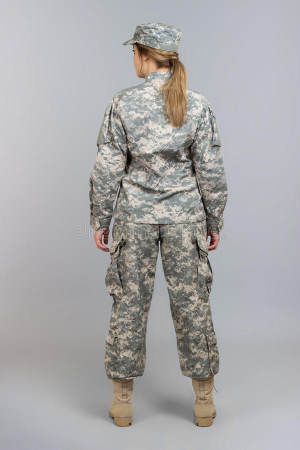 Muchacha en uniforme fotografía de archivo