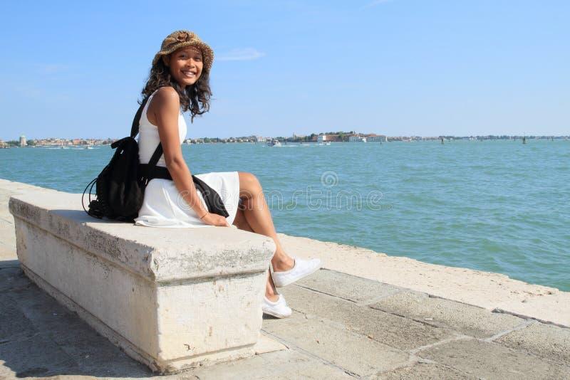 Muchacha en Venecia fotografía de archivo