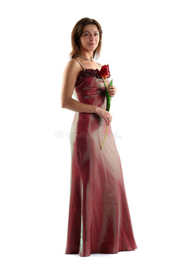 Muchacha en vestido de noche foto de archivo