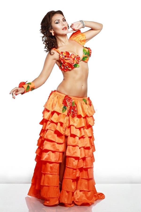 Muchacha en vestido hawaiano fotos de archivo libres de regalías