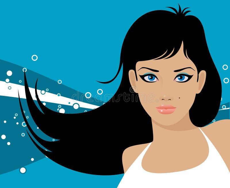 Muchacha eyed azul foto de archivo libre de regalías