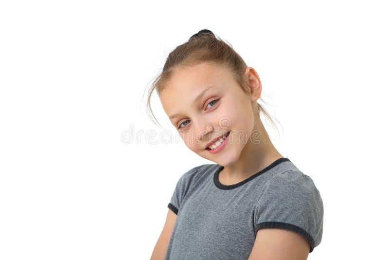 Muchacha feliz del preadolescente foto de archivo libre de regalías