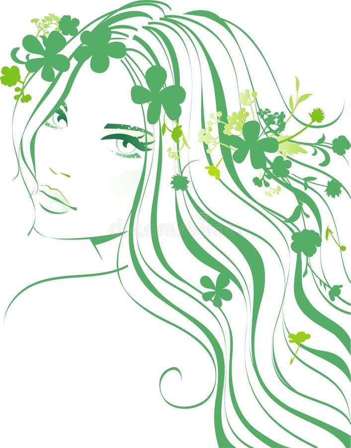 Muchacha floral ilustración del vector