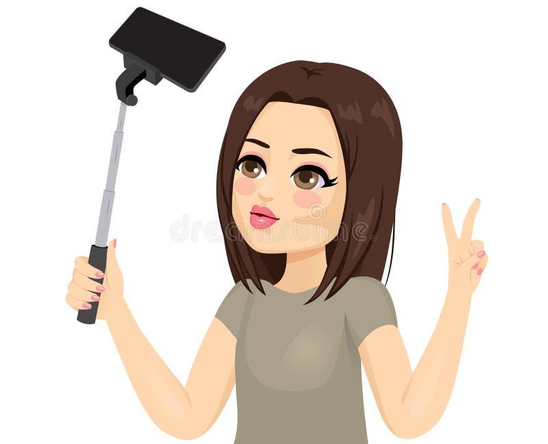 Muchacha fresca Selfie stock de ilustración