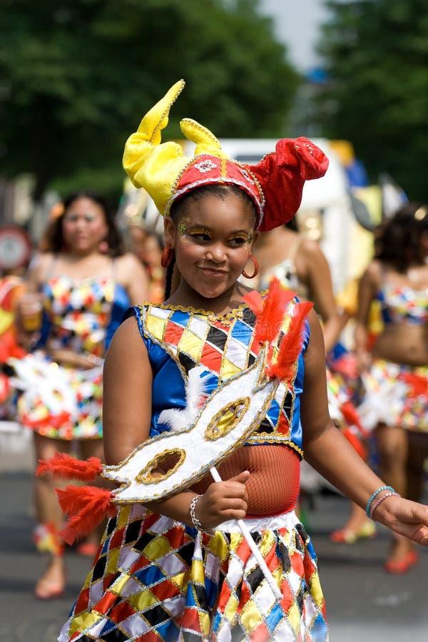 Muchacha hermosa carnaval imagen de archivo libre de regalías