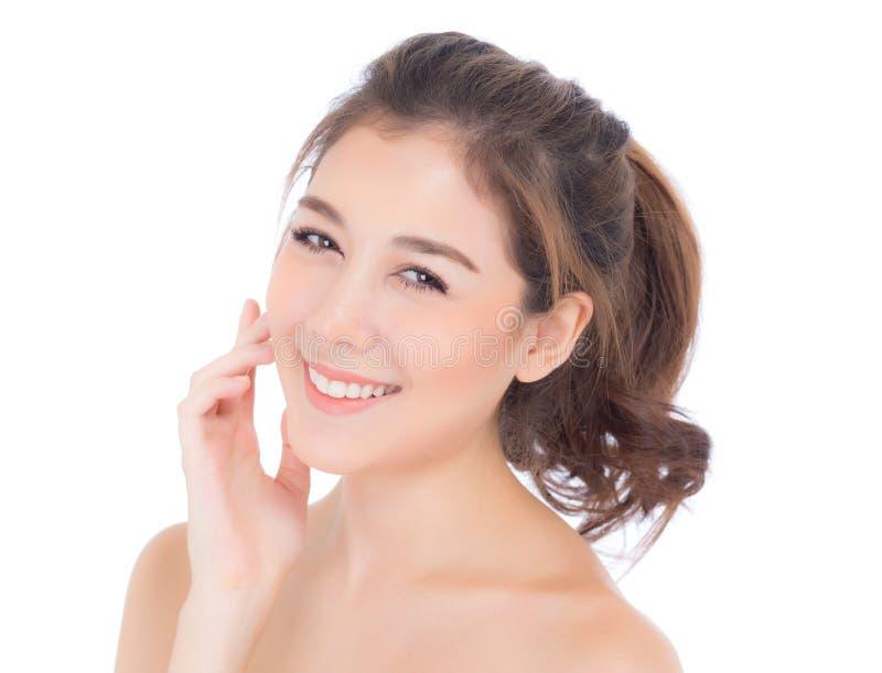 Muchacha hermosa con concepto de los cosméticos del cuidado del maquillaje, de la mujer y de piel fotografía de archivo