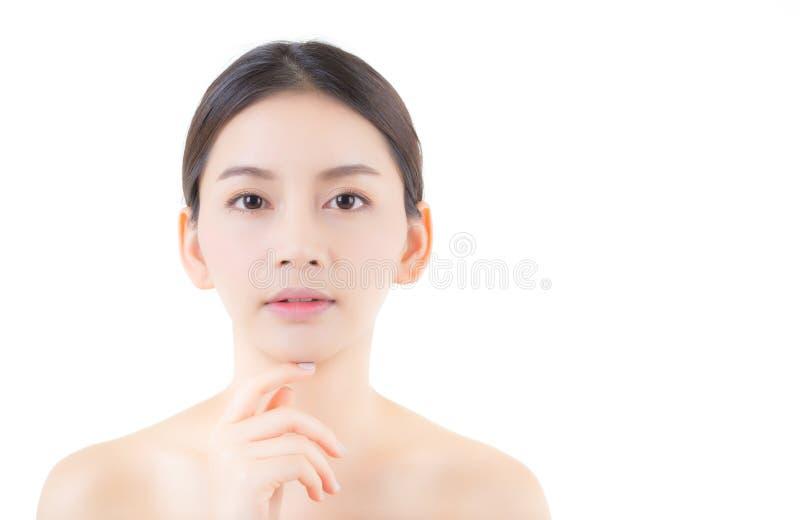 Muchacha hermosa con concepto de los cosméticos del cuidado del maquillaje, de la mujer y de piel imagen de archivo libre de regalías