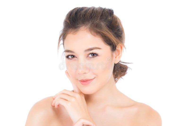 Muchacha hermosa con concepto del maquillaje, de la mujer y del cosmético del cuidado de piel fotografía de archivo