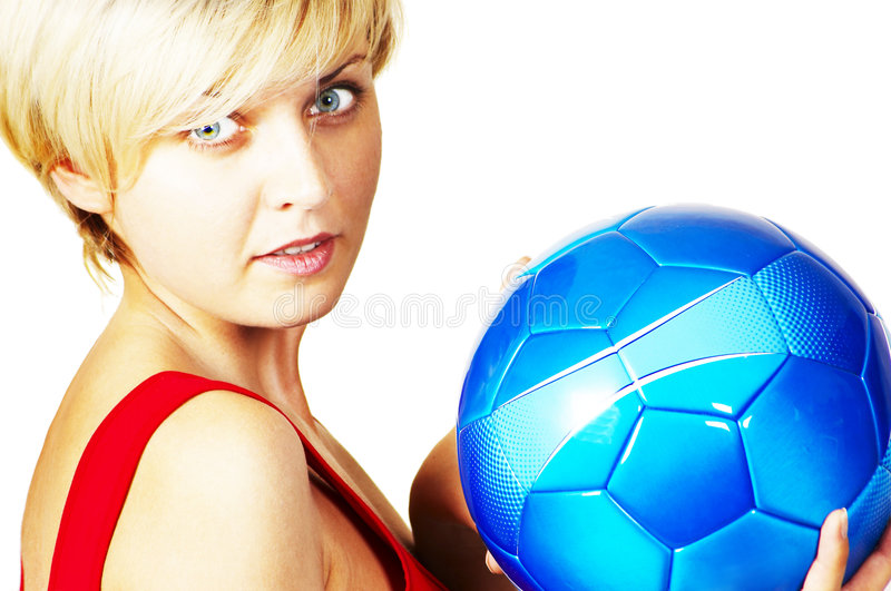 Download Muchacha Hermosa Con La Bola Imagen de archivo - Imagen de hincha, salud: 7281561