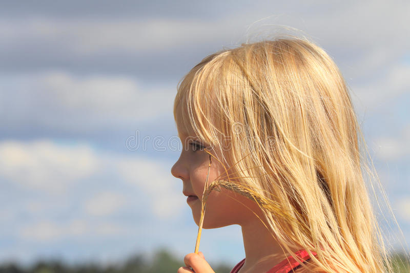 Muchacha hermosa con los oídos imagen de archivo libre de regalías